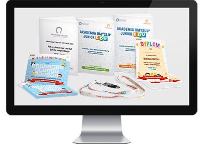Edukacja przedszkolna i edukacja wczesnoszkolna - zawartość pakietów: pendrive z 80 ćwiczeniami na pamięć i koncentrację (scenariusz zajęć w przedszkolu i konspekt lekcji szkolnych), prezentacje multimedialne, karty pracy, nagrody motywujące
