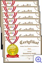 Dyplom Mistrza ćwiczenia koncentracji możliwy do wydruku w strefie edukacyjnej po zalogowaniu